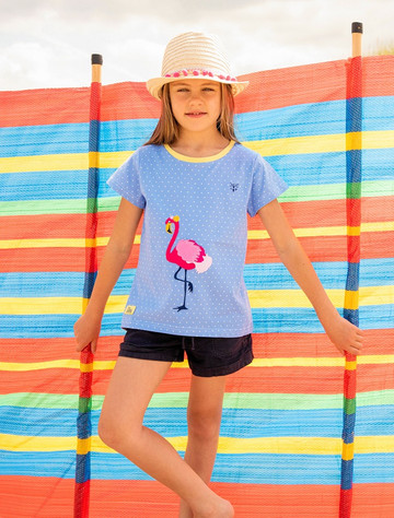 Shrawn Girls Short Sleeve T-Shirt - Flamingo