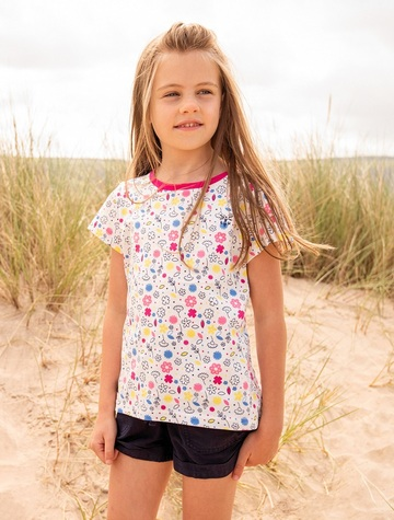 Causeway Girls Short Sleeve T-Shirt - Floral