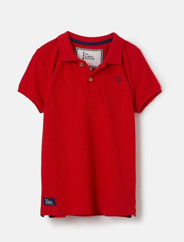Pier Boys Short Sleeve Polo Shirt - Red