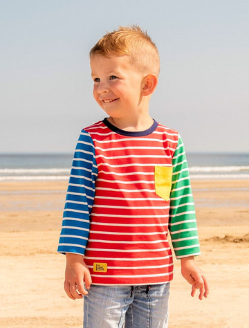 Oliver Boys Long Sleeve T-Shirt - Multi-Stripe