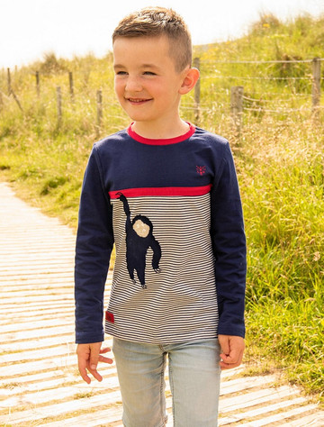 Oliver Boys Long Sleeve T-Shirt - Monkey Stripe