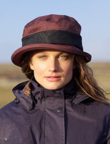 Donegal Waterproof Hat - Deep Claret