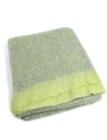 Mohair Throw - Lime Sage