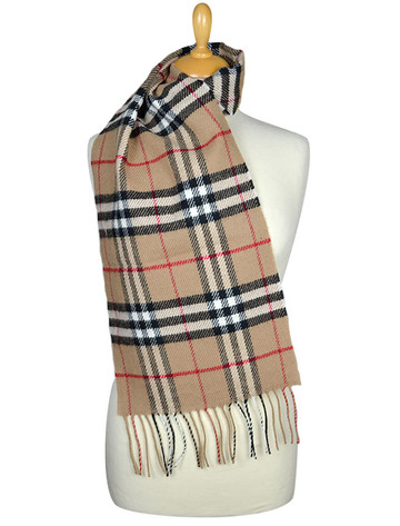 Lambswool Scarf - Bold Check