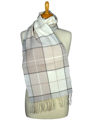 Lambswool Scarf - Light Classic Check