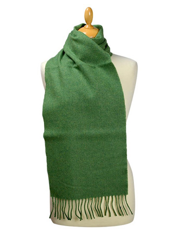 Lambswool Scarf - Leaf Green