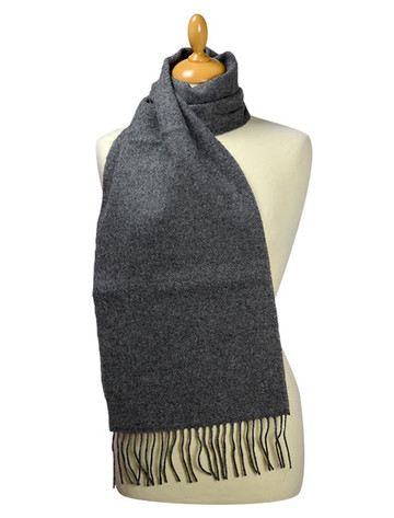 Lambswool Scarf - Solid Grey