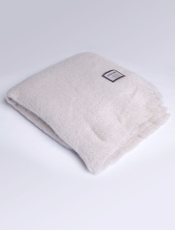 Mohair Throw - Bone