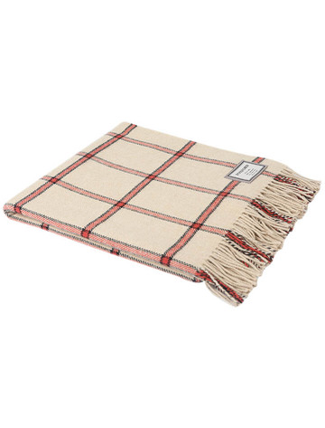 Lambswool Throw - Camel Pink