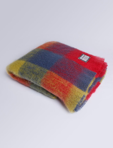 Mohair Throw - Heritage Block
