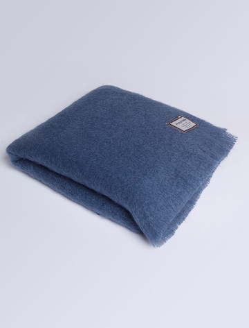 Mohair Throw - Dusty Blue