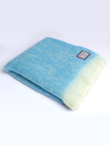 Mohair Throw - Blue Lime