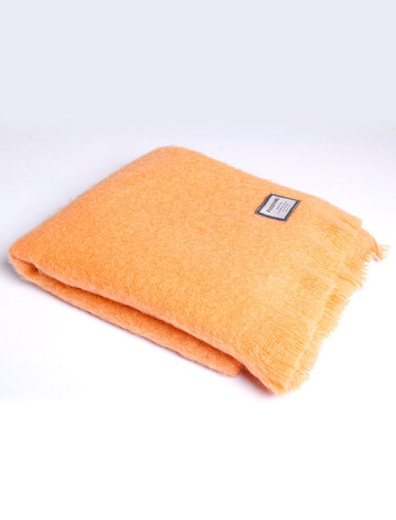 Mohair Throw - Orange