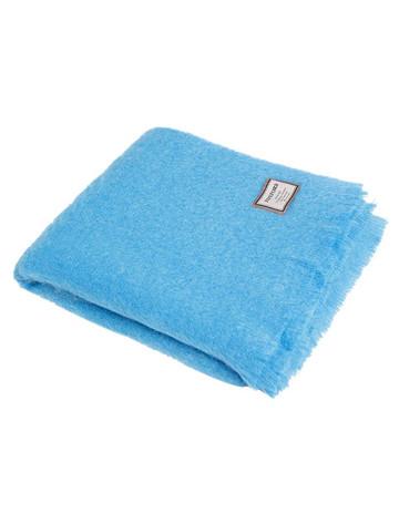 Mohair Throw - Mayo Blue