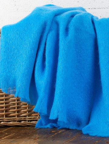 Mohair Throw - Mayo Blue