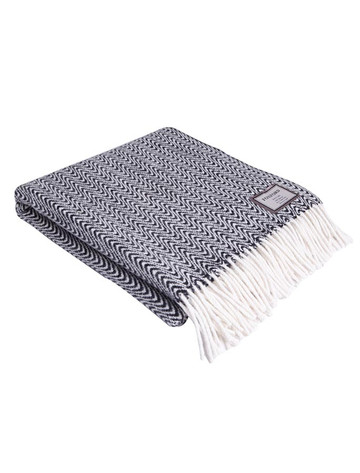 Merino Throw - B & W Animal Print