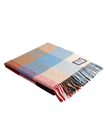 Lambswool Throw - Multi Color Check