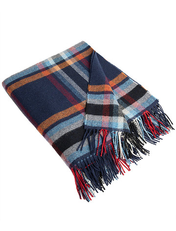 Lambswool Throw - Mixed Plaid