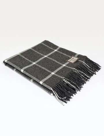 Lambswool Throw - Oxford Windowpane