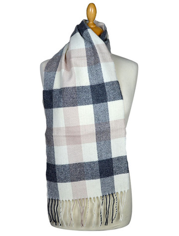 Lambswool Scarf - Neutral Block