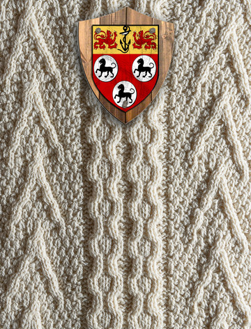 Allen Clan Aran Throw