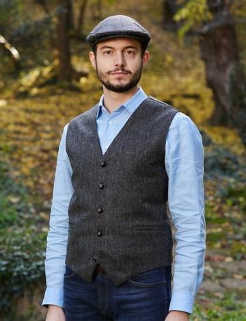 Donegal Tweed Waistcoat - Charcoal Fleck