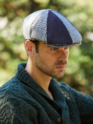 Donegal Tweed 8 Piece Panel Cap - Patchwork