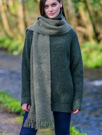 Mucros Kells Scarf - Moss Green
