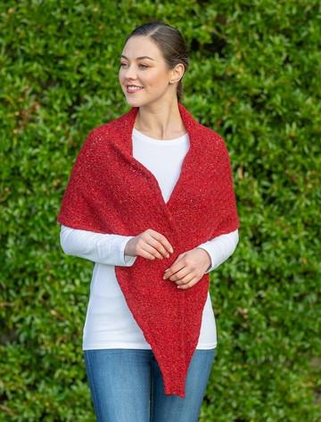 Wool Cashmere Gypsy Scarf - Magma