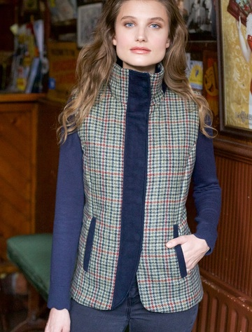Aideen Tweed Gilet – Hacking Check