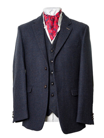 Ryan Navy Classic Fit Irish Tweed Jacket