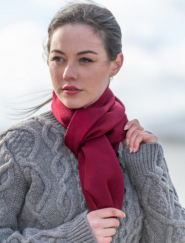 Ross Super-Soft Merino Scarf Wine