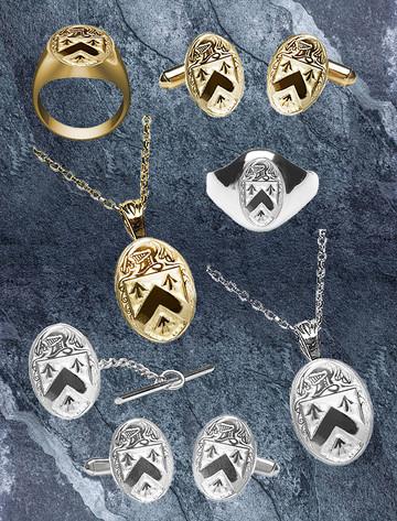 Walsh Heraldic Gold & Silver