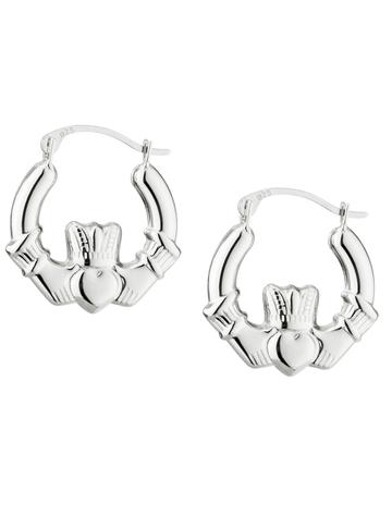 Claddagh Creole Small Earrings
