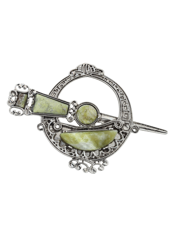 Connemara Marble Celtic Tara Brooch
