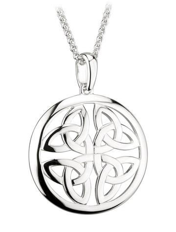 Sterling Silver Four Trinity Knot Pendant
