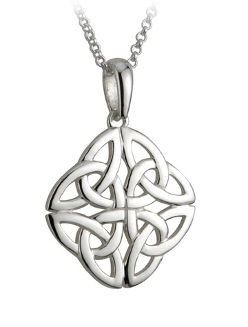 Sterling Silver Celtic Four Trinity Knot Pendant