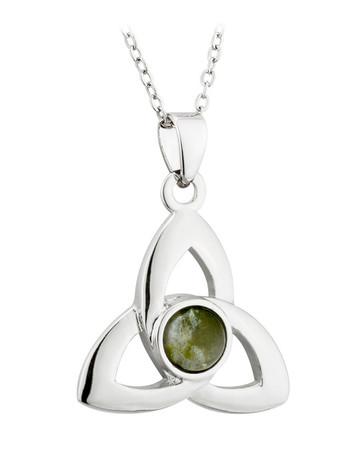 Connemara Marble Trinity Knot Celtic Pendant