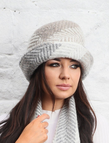 Wool Country Hat - Multi-Beige