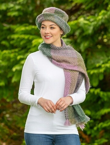 Wool Country Scarf - Multi-Loden