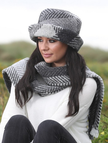 Wool Country Scarf - Donegal Grey