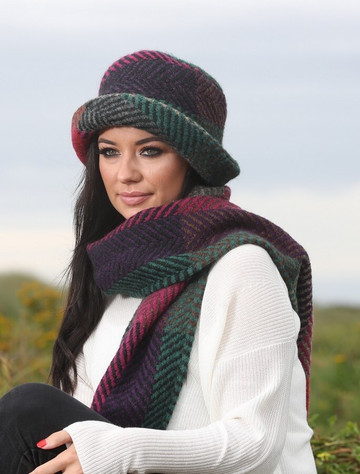 Wool Country Scarf - Multi Mulberry