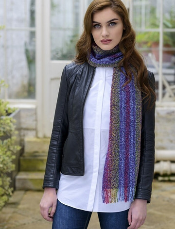 Wool Cashmere Skellig Scarf - Multi-Vernal