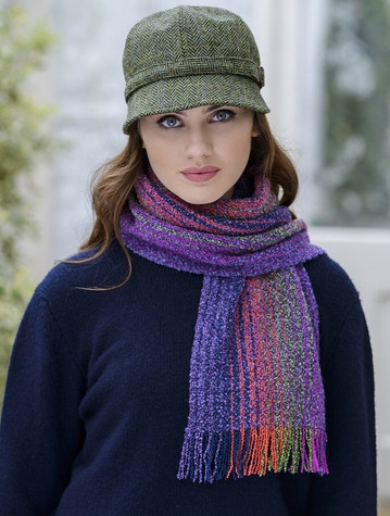 Wool Cashmere Skellig Scarf - Purple Heather