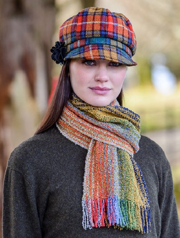 Wool Cashmere Skellig Scarf - Multi-Colour
