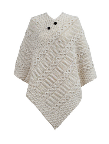 Mc Nally Clan Aran Poncho