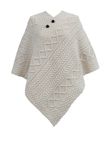 Mooney Clan Aran Poncho