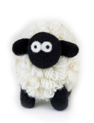 Standing Knitted Mountain Irish Sheep