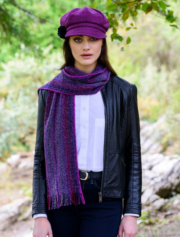 Wool Cashmere Skellig Scarf - Purple Mix