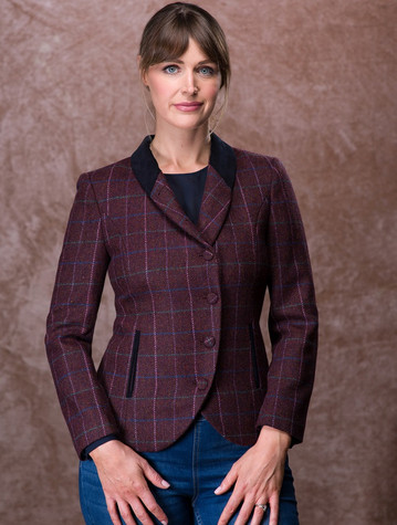 Niamh Tweed Blazer – Winter Berry